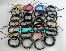 100 PCS Mixed Style Surfer Cuff Ethnic Tribal Leather Bracelets Wholesale