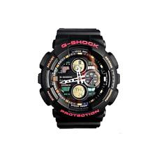 Casio G-Shock Analog-Digital Chrono 200m Black Resin Watch GA140-1A4