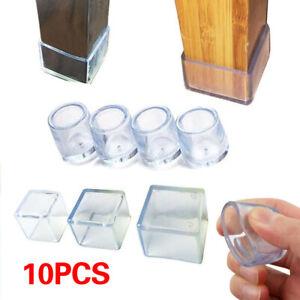 10Pcs Non-slip Floor Protector Pads Chair Leg Caps Table Feet Socks Home Decor