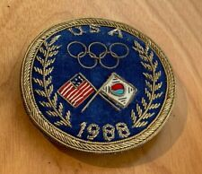 1988 Seoul Olympics Team USA Brassard Sweater Patch with Gold Bullion Thread
