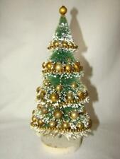 "Vintage Christmas Mercury Glass Garland, Composition, Mica 10"" Bottle Brush Tree"