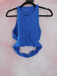 Womens Cropped Open Back Tank Top Size XS Activewear