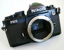 Noir Nikon FM2N Manuel Reflex 35 mm Film Caméra Corps Seulement Pour Pièces/Réparation