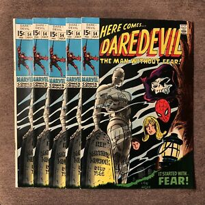 Daredevil #54 - Early Silver Age Key - Spiderman Cover - (5) Copies - NO RESERVE