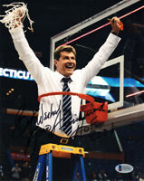 GENO AURIEMMA SIGNED 8x10 PHOTO + HOF 2006 UCONN HUSKIES BASKETBALL BECKETT BAS