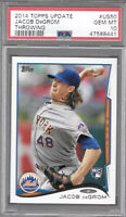 2014 Topps Update #US50 Jacob DeGrom Rookie Card RC PSA 10 GEM MT Mets Non-Auto