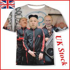 UK Funny 3D T-shirt Putin Donald Trump and Kim Jong Un Full Print Size M-2XL