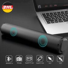 Dual 10W Lautsprecher TV Sound Bar Heimkino Soundbar System  Stereo Subwoofer DE