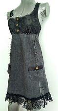 Free People Lace et Tweed Robe Décontractée Taille 8 laine mélangée -- Comme neuf --