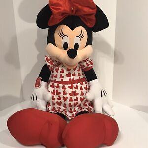 "Disney Minnie Mouse Plush 42"" Red Dress Jumbo Large Stuffed Animal Very Nice!"