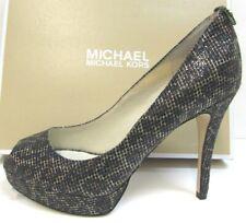 Michael Kors Size 9 Black Gold Cheetah  Heels New Womens Shoes
