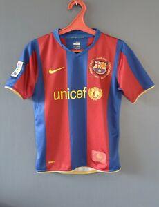 Barcelona Football Soccer Retro Shirt Camiseta Jersey 2007/2008 Size Youth M 5/5