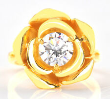 14KT Real Yellow Gold 2.20 Carat Round Shape Solitaire Anniversary Ring