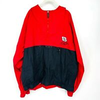 Chase Authentics Men Dale Earnhardt Jr #8 Windbreaker Jacket Hood Popover Red XL