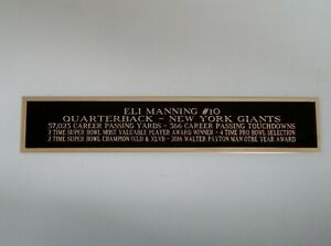 Eli Manning Giants Autograph Nameplate for a Football Jersey Case 1.5 X 8