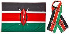 "Wholesale Combo Set Kenya Kenyan Country 3x5 3'x5' Flag and 8""x60"" Scarf"