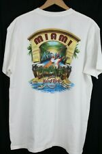 Hard Rock Cafe Mens T Shirt sz XL White Miami, FL