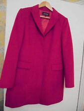 JAEGER BEAUTIFUL RED WOOL BOYFRIEND COAT SIZE 12