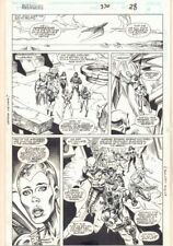 Avengers #370 p.28 - Deviant Heroes Team Action - 1994 art by Geof Isherwood