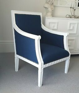Brand New Navy And White Armchair. Jonathan Adler Coco Republic Style Chair