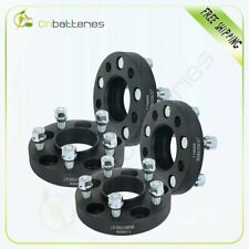 """4 pcs 5x4.5 1"""" wheel spacers 1/2"""" studs for Ford Mustang Edge Ranger CB 70.5mm"""