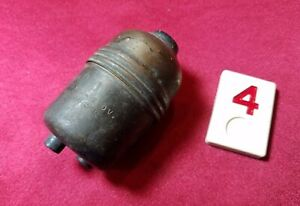 Vtg Arrow Electric Brass Bakelite Electric Push Button In Line Switch - R4E