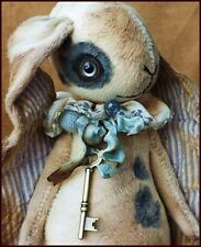 Alla Bears fun bunny baby rabbit art doll blue pet modern nursery decor floral