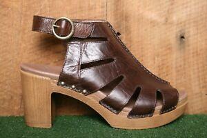 "DANSKO 'Demetra' Brown Leather Bootie Sandals w/3.5"" Heels EU 41| Approx US 10.5"