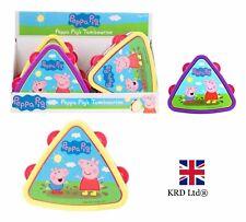 PEPPA PIG TAMBOURINE Musical Instrument Triangle Drum Band Birthday Toy Gift UK