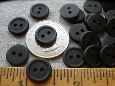 "12MM matte black tiny buttons rim flat back 7/16"" 18L craft jewelry clothes 48pc"