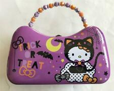 New HELLO KITTY Halloween Tin Carry Case Trick Or Treat