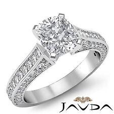 Brilliant Cut Cushion Diamond Fantastic Engagement Ring GIA I VS2 Platinum 2 ct