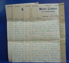 TIPTON, MO/1910s Letter/HOTEL CRAMER