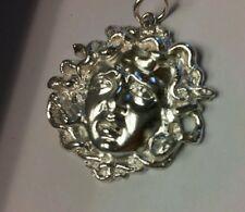 Medusa pendant in sterling silver