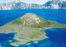 (10140) Postcard - Cascades Volcanoes - Crater Lake, Oregon by Mt Mazama remains