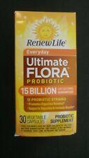 Renew Life Everyday Ultimate Flora Probiotic 15 Billion 30 Veggie Capsules #O