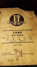 Ford Series 501, 601, 701, 801, 901, 600, 700, 800, 900, 1801,2000,4000 Shop Man