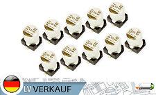 10 piezas ALUMINIO Condensador SMD Muebles Nippon 16V 10UF para Arduino