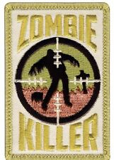 SNIPER ZOMBIE KILLER EMBROIDERED HOOK AND LOOP  MILITARY PATCH