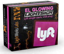 "Lyft Light Sign - Illuminated Glowing Trade-Dress Decal, 4""x 4"" EL for Cars"