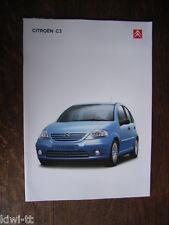 Citroen C3 Prospekt / Brochure / Depliant, D, 7.2004