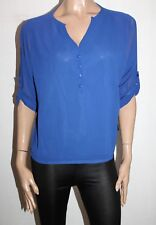 Unbranded Purple Chiffon Long Sleeve Blouse Top Size S BNWT #TM13