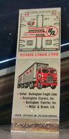 Vintage Matchbook Cover A5 Washington United Buckingham Trucking Truck Big Rig