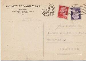 1945 ROMA LA VOCE REPUBBLICANA RIVISTA