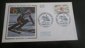 enveloppe premier jour 1972 XIes jeux olympiques d'hiver sapporo