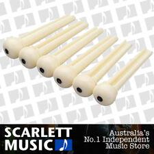 6 X Guitar Bridge Pins Plastic String End Peg Acoustic Guitar ( Ivory Colour )