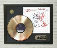 """Pink Floyd Framed wood Reproduction Signature LP Record Display. """"M4"""""""