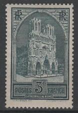 "FRANCE STAMP TIMBRE N° 259 "" CATHEDRALE REIMS 3F TYPE I "" NEUF xx TTB  K450"