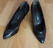 Schuhe Pumps schwarz Lack Muster Gothic Gr.5 37 37,5 Elvira High Heels