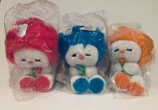 Vintage 80's Dakin Frou Frou Plush Stuffed Animals Blue Orange Pink Fun Farm New